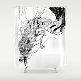 Falling dragon Shower Curtain