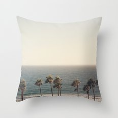 Golden Hour over Pacific Coast Highway Throw Pillow