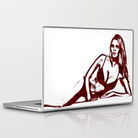 calvin Laptop & iPad Skins featuring Fashion Lara Stone Calvin Klein by fashionistheonlycure