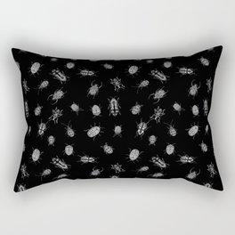 Beautiful Bugs Black Rectangular Pillow