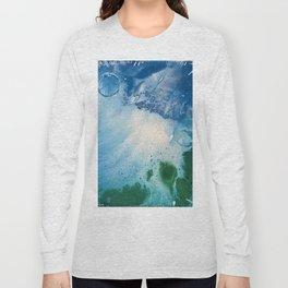 Environmental Blue and Green Painting # 7 Long Sleeve T-shirt