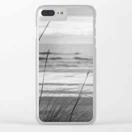 Black and White Ocean Dream Clear iPhone Case