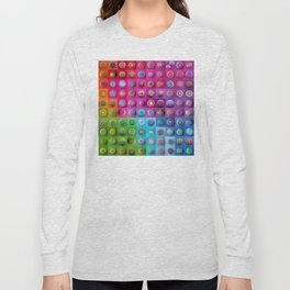 Colourful collection of hand painted mandala stones Long Sleeve T-shirt