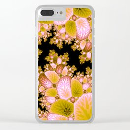 Crack in the Cosmic Tree Fractal Clear iPhone Case
