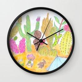 Wandering in the Desert Wall Clock