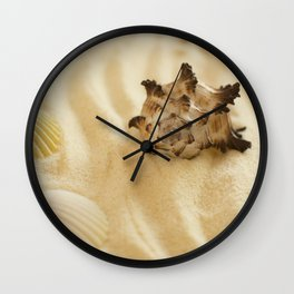 Black and White Murex Shell Wall Clock