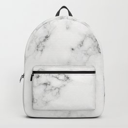 Faux White Marble Pattern Backpack