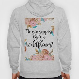 Blush and gold wildflower Hoody