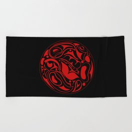 Abstract Indigenous Ornament Beach Towel