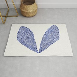 Navy Cicada Wings Rug
