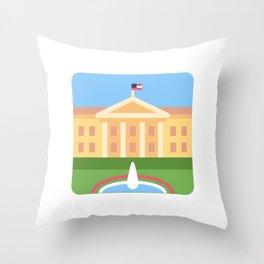 "Trumpation - White ""Golden"" House Throw Pillow"