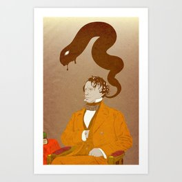 Franklin Pierce, Dybbuk puppet Art Print