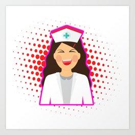 Nurse Heart Labs Design Art Print