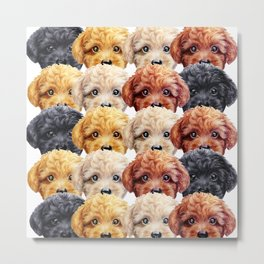 Toy poodle everywhere with friends Metal Print