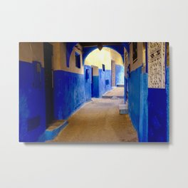 Tangier Morocco Medina Metal Print