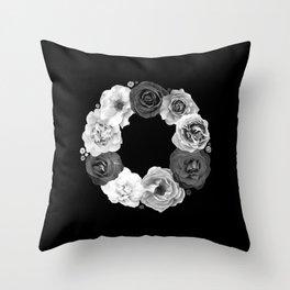 Rose Wreath I Throw Pillow