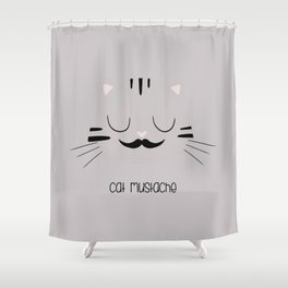 cat mustache Shower Curtain