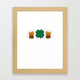 Let's Get White Girl Wasted T-shirt Funny Shamrock Tee Framed Art Print