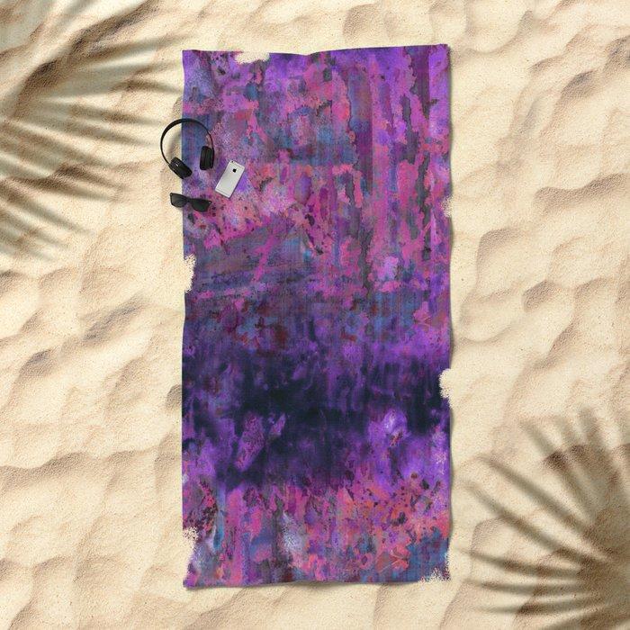 Saltwater Pink Beach Towel