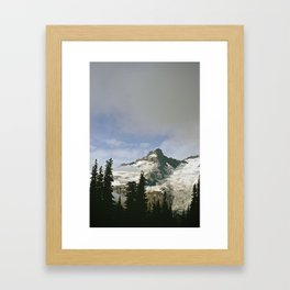 Mountain Snow Framed Art Print