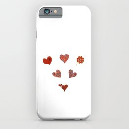 A Group of Hearts! iPhone Case