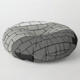 A decorative masonry Brick wall pattern in grey Floor Pillow