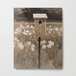 Rustic Bird House Metal Print
