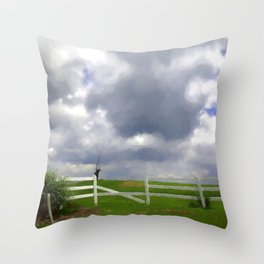 One Hot Summer Day Throw Pillow