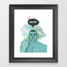 SMASH! Hulk Framed Art Print