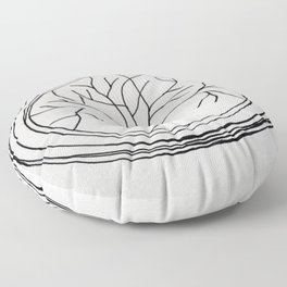 Tree Of Life Circle Floor Pillow