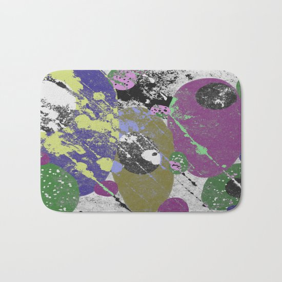 Gather Together - Abstract, pastel coloured, textured, artwork Bath Mat