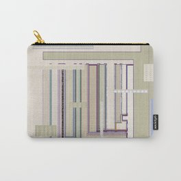 Metaphysical Oatmeal Taupe Sage geometric graphic design Carry-All Pouch