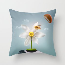 Flower man Throw Pillow