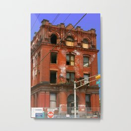 Wrong turn from Philly Metal Print