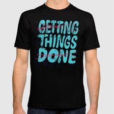 Not Getting Things Done X-LARGE Black Mens Fitted Tee