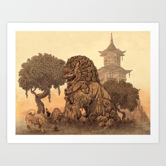Foo Dogs  Art Print