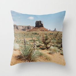 Blooming Southwest Desert Yucca Throw Pillow