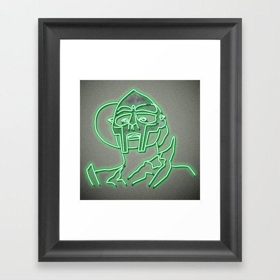 MF Doom - Neon  Sign by kennethosborn