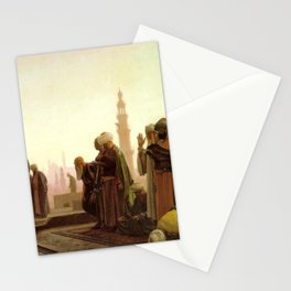 Islamic Masterpiece 'Prayer in Cairo' by Jéan Leon Gerome Stationery Cards