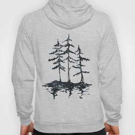 THE THREE SISTERS Black and White Hoody