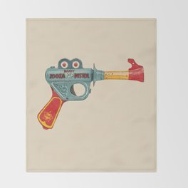 Gun Toy Throw Blanket