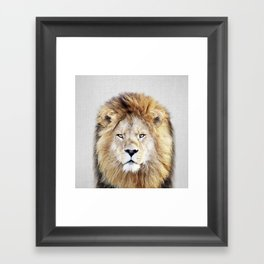 Lion 2 - Colorful Framed Art Print