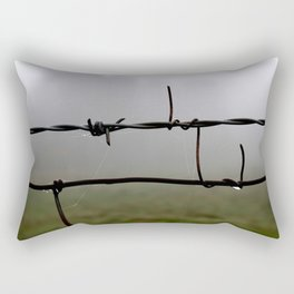 Fog and Fence Rectangular Pillow