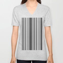 Barcode Pattern Unisex V-Neck
