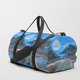 Just Chilling and Dreaming (Polar Bear) Duffle Bag