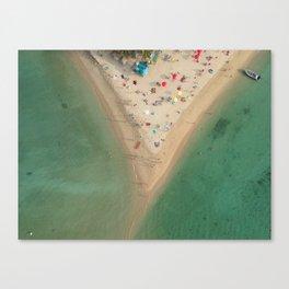 Aerial Koh Phangan Beach Thailnad Canvas Print