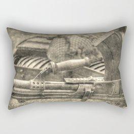 Vintage Bren Gun And Army Kit Rectangular Pillow