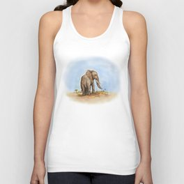 The Majestic African Elephant Unisex Tank Top