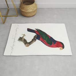 The Black-Capped Lory (Lorius lory) from Natural History of Parrots (1801-1805) by Francois Levailla Rug