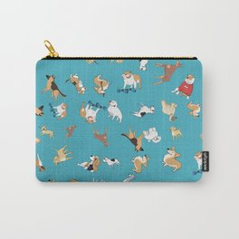 Scattered Cartoon Dogs Carry-All Pouch